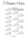 Fifteen Hats Coloring Page
