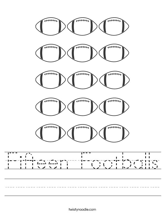Fifteen Footballs Worksheet