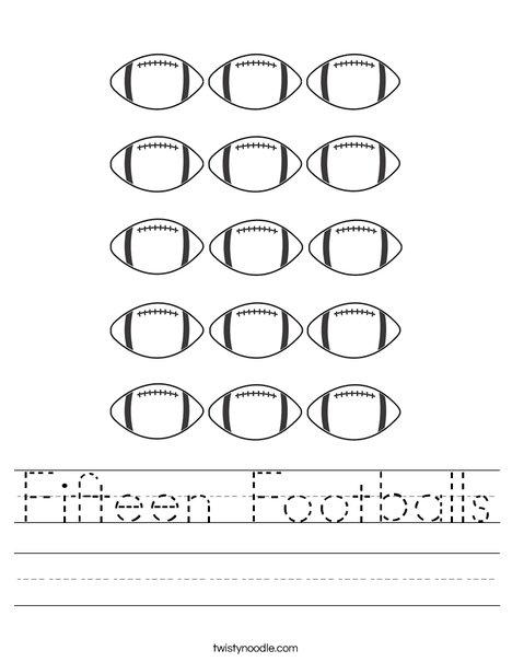 Fifteen Worksheet