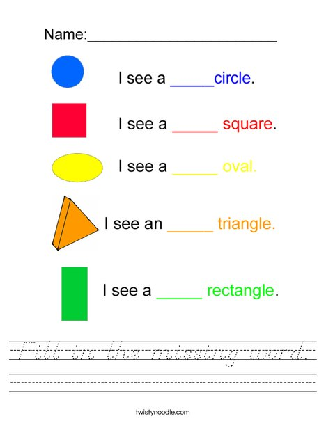 Fill in the color names Worksheet