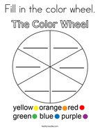 Fill in the color wheel Coloring Page