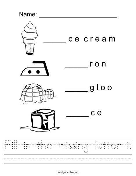 Fill in the missing letter i Worksheet