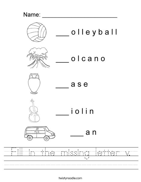 two letter words starting with v fill in the missing letter v worksheet twisty noodle 47020