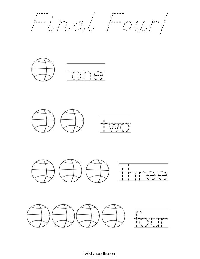 Final Four! Coloring Page