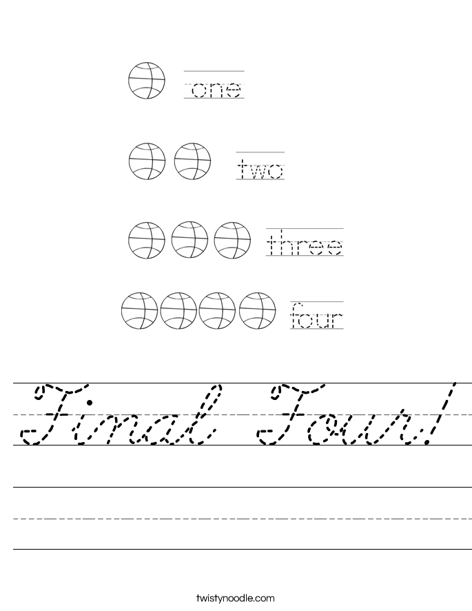 Final Four! Worksheet