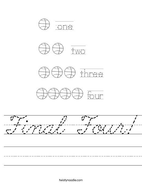 Final Four Worksheet