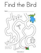 Find the Bird Coloring Page