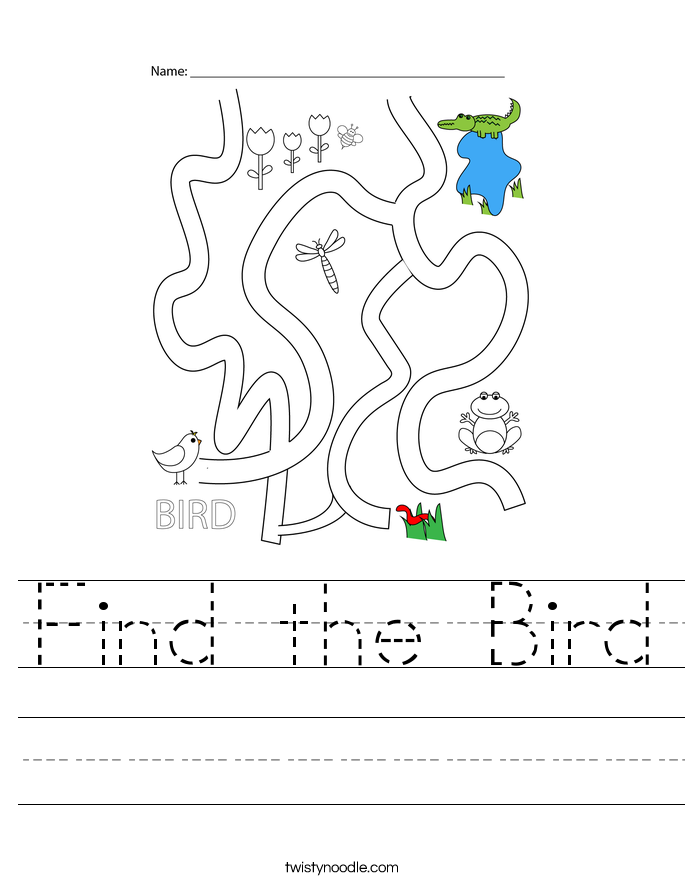 Find the Bird Worksheet