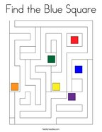 Find the Blue Square Coloring Page