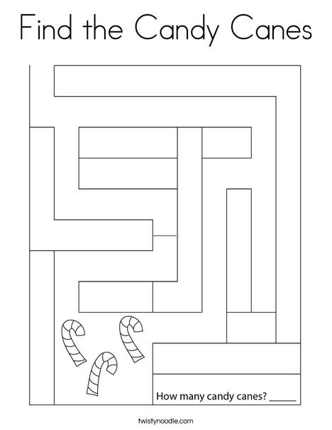 Find the Candy Canes Coloring Page