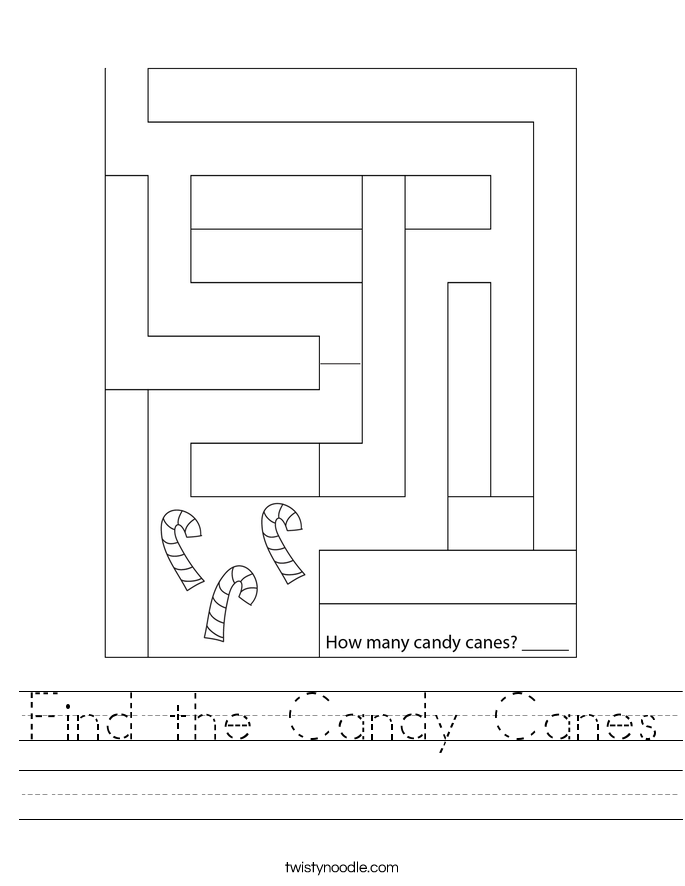 Find the Candy Canes Worksheet