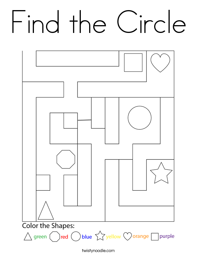 Find the Circle Coloring Page
