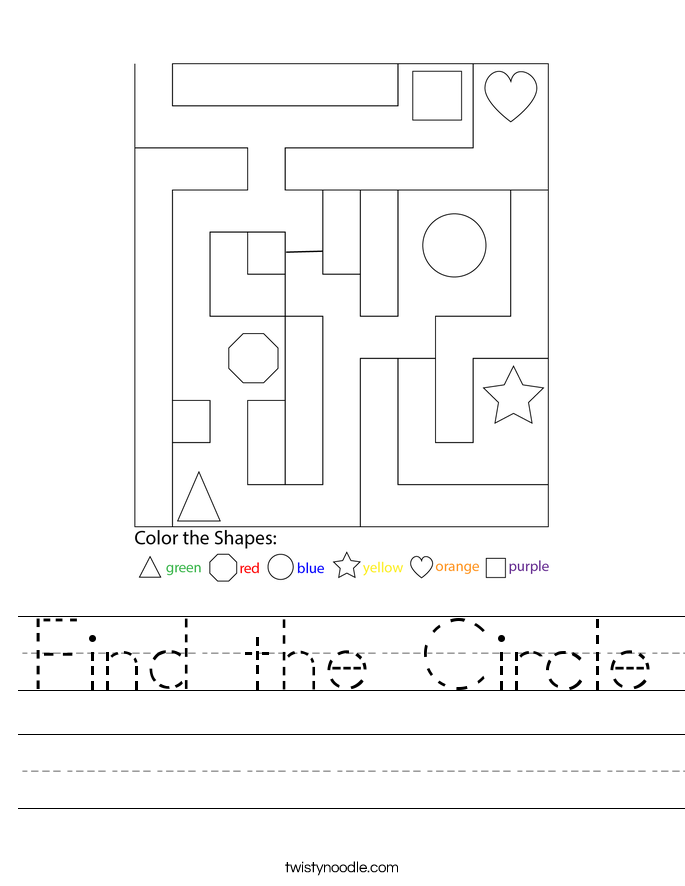 Find the Circle Worksheet