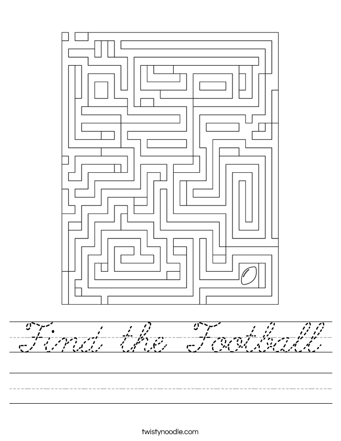 Find the Football Worksheet