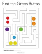 Find the Green Button Coloring Page