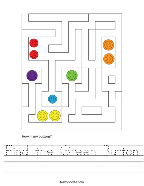 Find the Green Button Worksheet