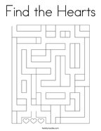 Find the Hearts Coloring Page
