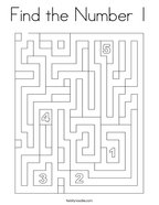 Find the Number 1 Coloring Page