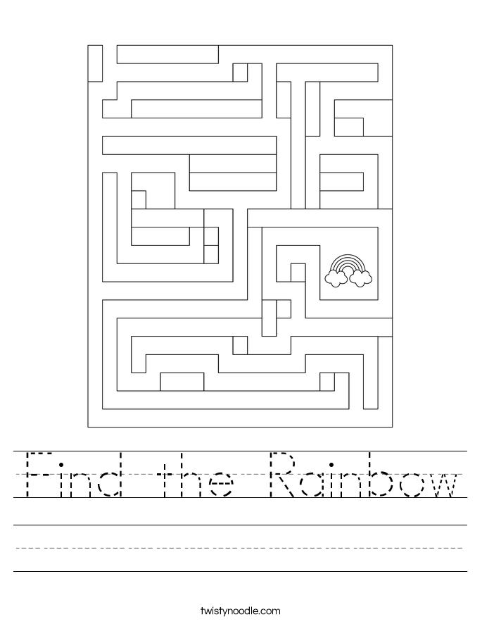 Find the Rainbow Worksheet