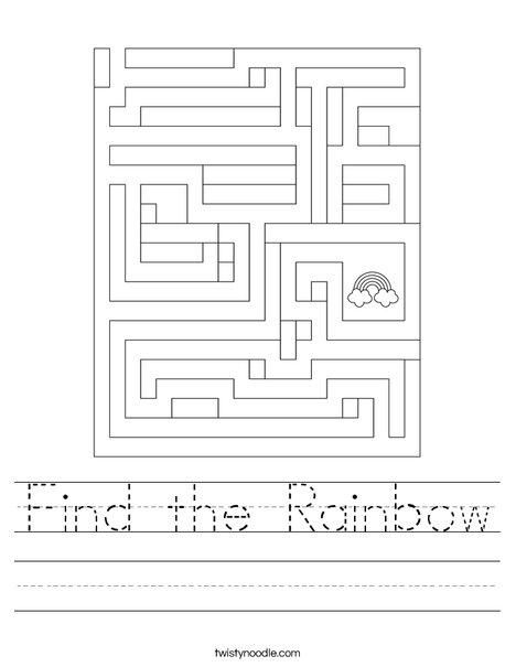 Find the Rainbow. Worksheet