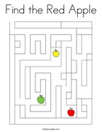 Find the Red Apple Coloring Page