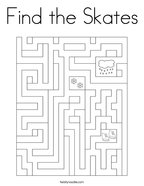 Find the Skates Coloring Page