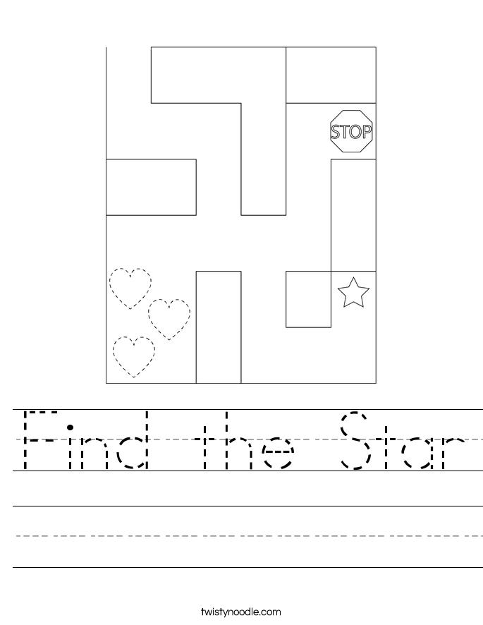 Find the Star Worksheet