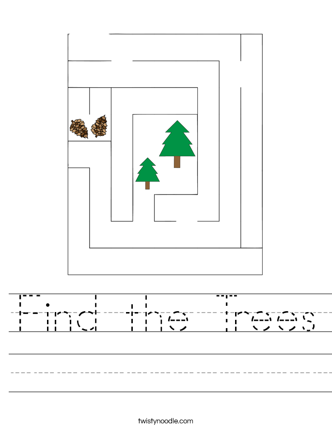 Find the Trees Worksheet