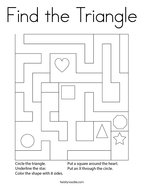 Find the Triangle Coloring Page