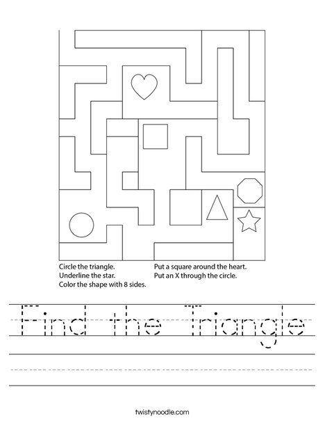 Find the Triangle Worksheet