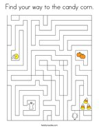 Find your way to the candy corn Coloring Page