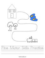 Fine Motor Skills Practice Handwriting Sheet
