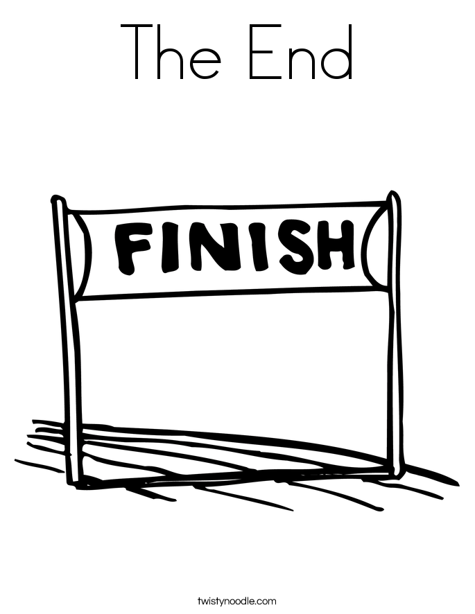 The End Coloring Page