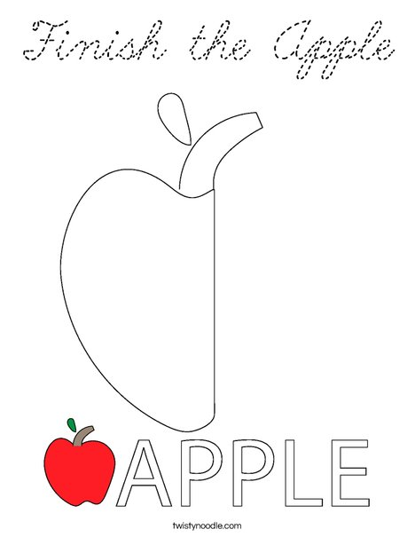Finish the Apple Coloring Page