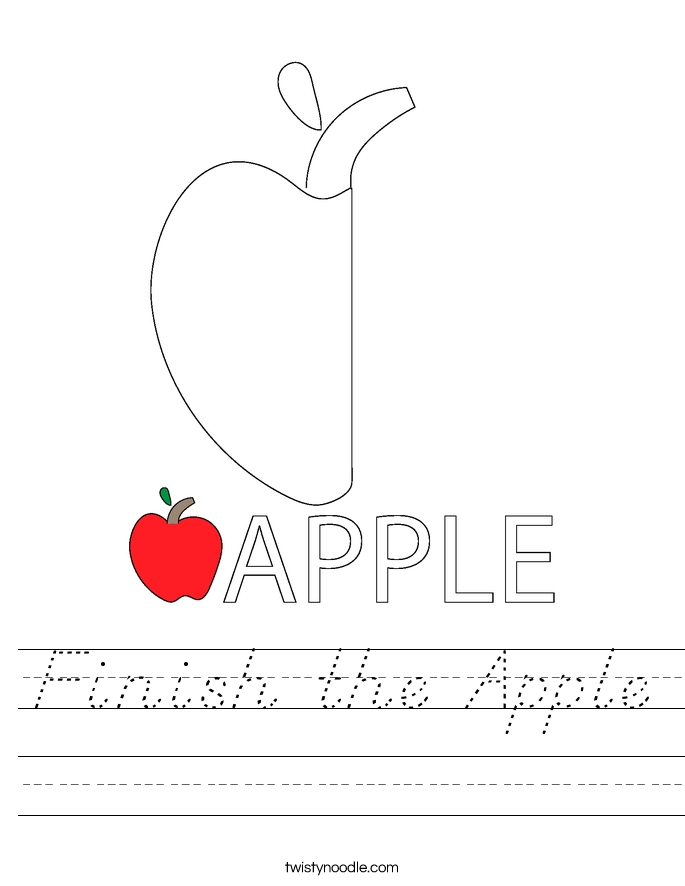 Finish the Apple Worksheet