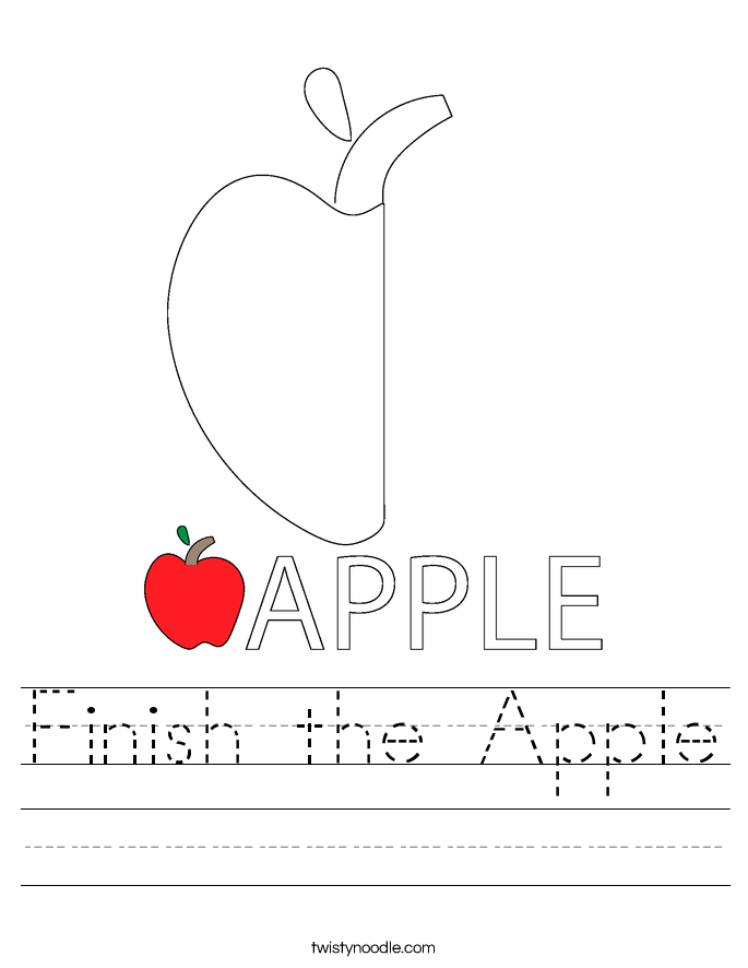 Finish the Apple Worksheet
