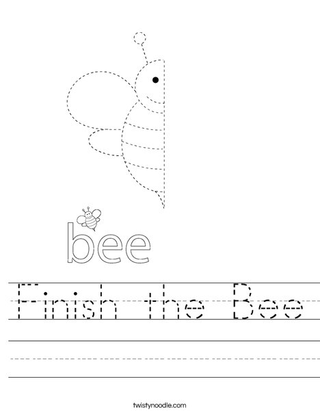 Finish the Bee Worksheet