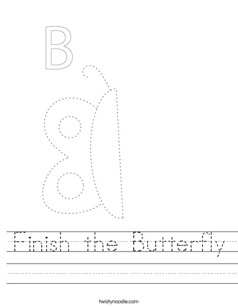 Finish the Butterfly Worksheet