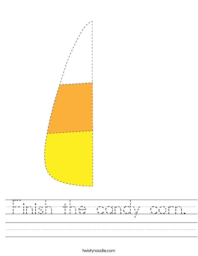 Finish the candy corn. Worksheet