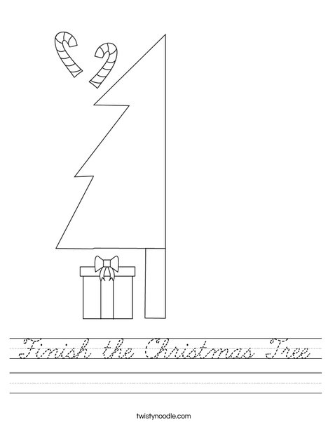 Finish the Christmas Tree Worksheet