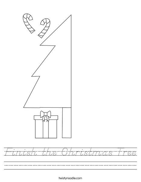 Finish the Christmas Tree Worksheet