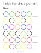Finish the circle pattern Coloring Page