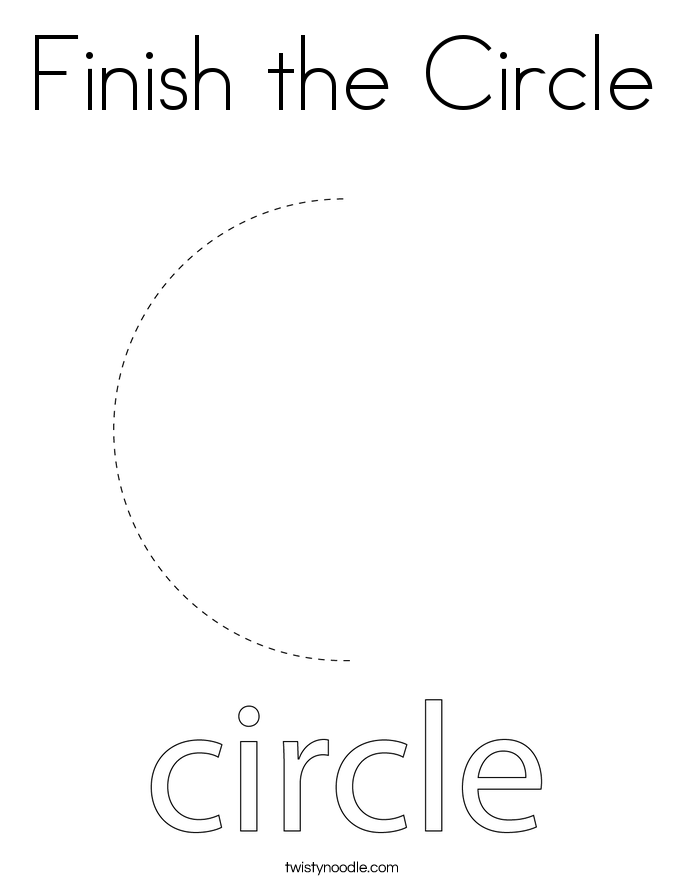 Finish the Circle Coloring Page