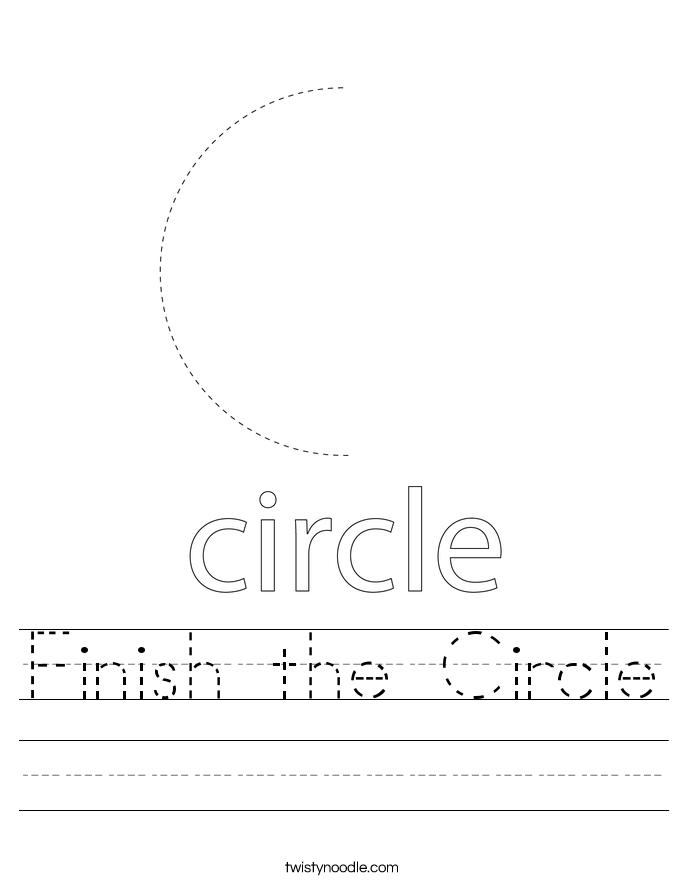 Finish the Circle Worksheet