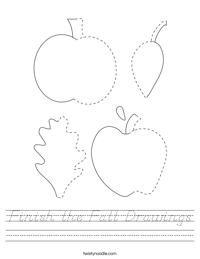 Finish the Fall Drawings Worksheet