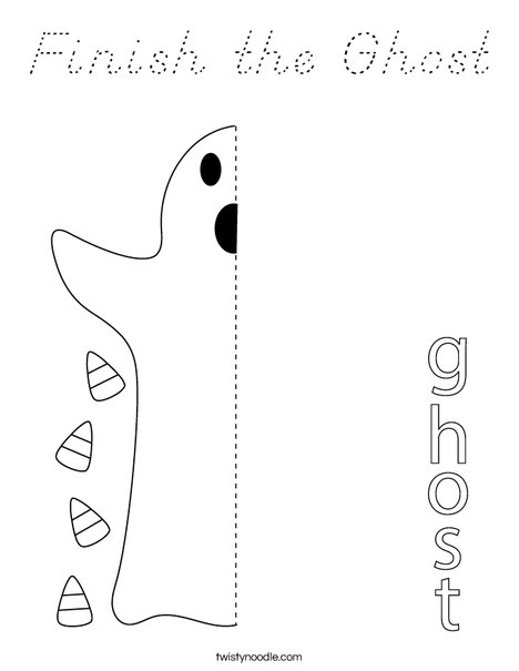 Finish the Ghost Coloring Page
