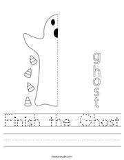 Finish the Ghost Handwriting Sheet