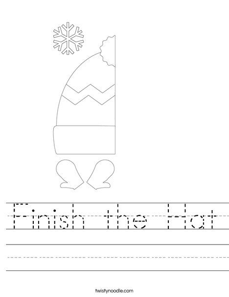 Finish the Hat Worksheet