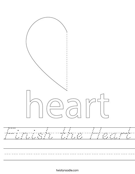 Finish the Heart Worksheet