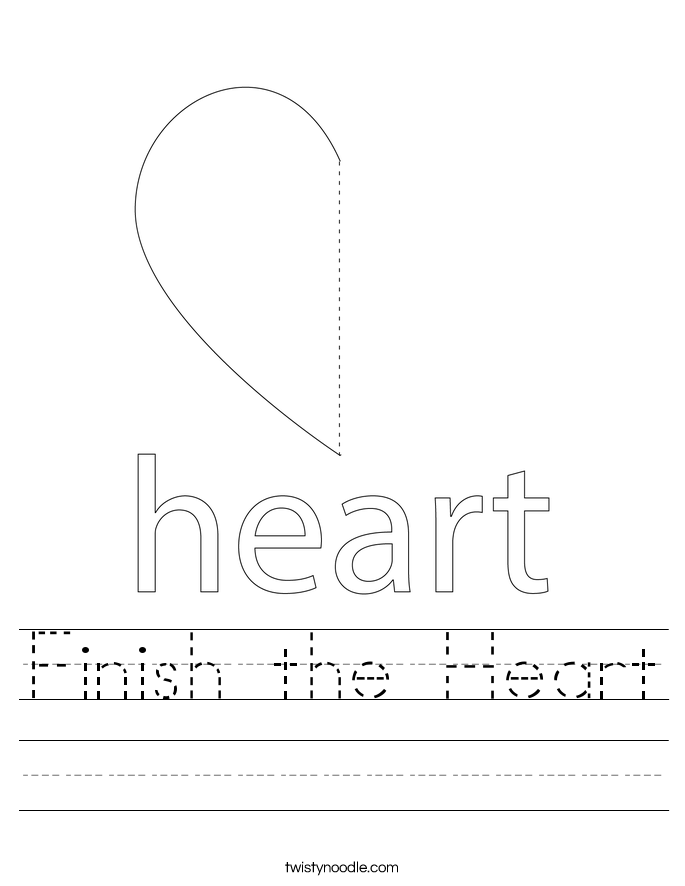 Finish the Heart Worksheet
